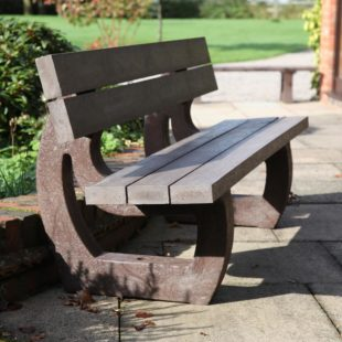 recycled plastic park bench