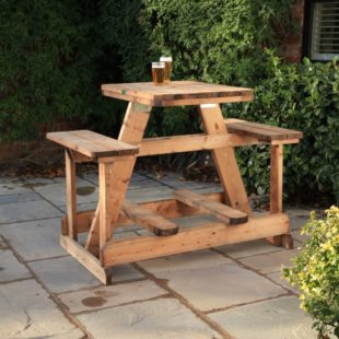 Bar height commercial picnic table