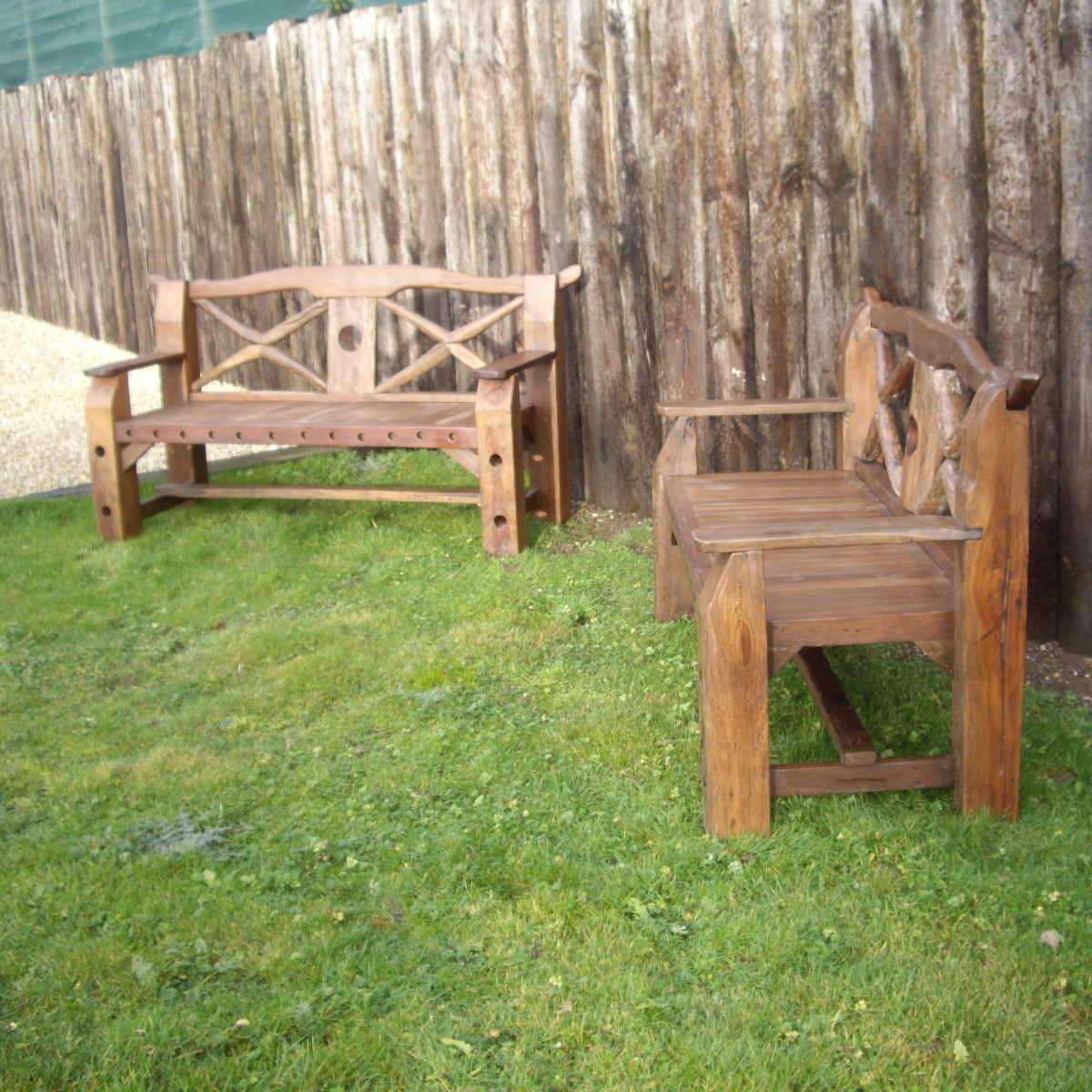 Reclaimed Teak Ox Cart Bench Woodberry