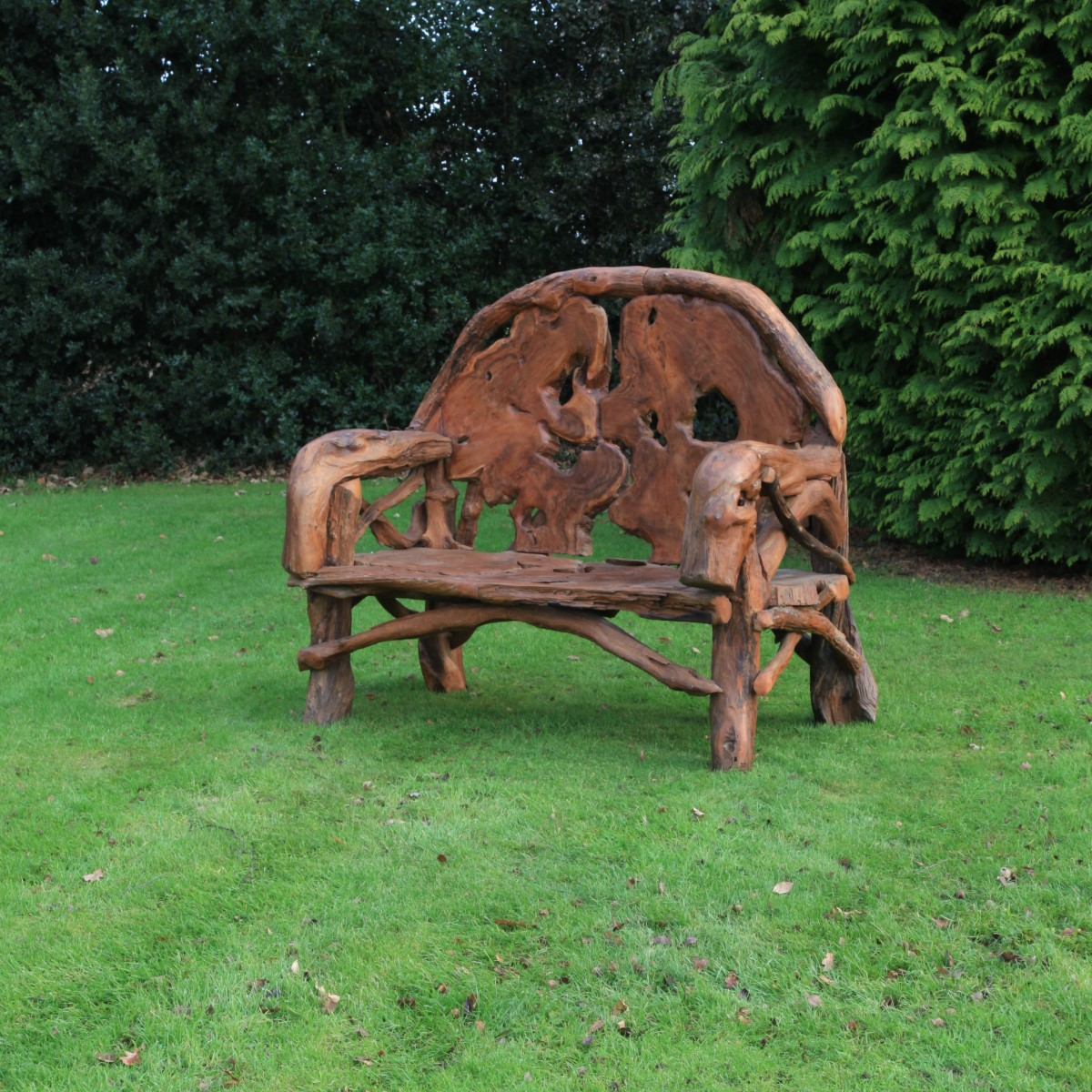 Teak Root Bench Woodberry