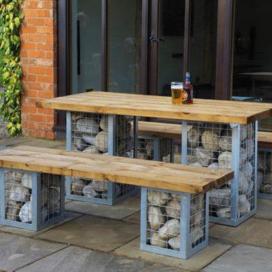 Outdoor Tables & Benches - Gabion Range