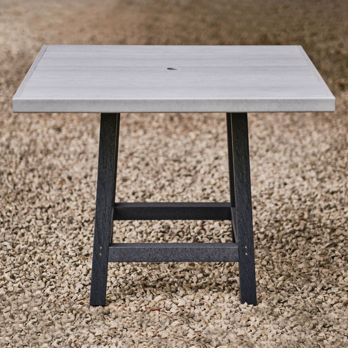 Recycled Plastic Square Dining Table   Woodberry