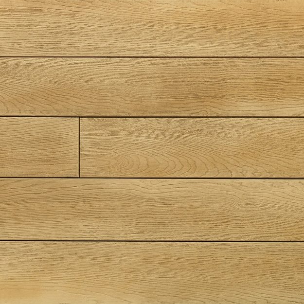 A sample colour square of Golden Oak Millboard decking