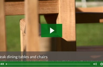 The first frame of a Woodberry video showing the best selling outdoor furniture products