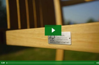 The first frame of a Woodberry Video introducing the Commercial Outdoor Furniture company as manufacturers and suppliers to Hospitality venues