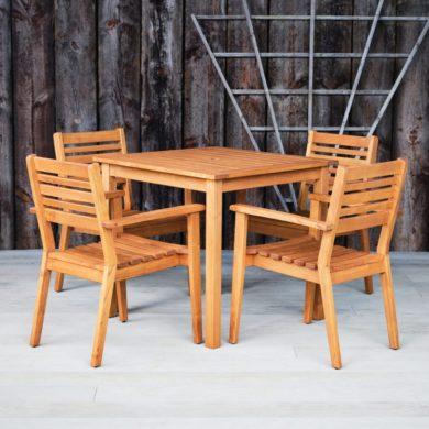 Hardwood Outdoor Dining Table & Chairs - Hexham Range